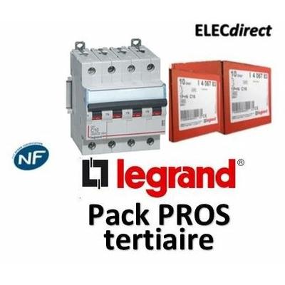 Legrand - Disjoncteur 4P DX3 32A - 10kA - courbe C - 407901x3