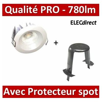Lited - Spot LED 10W MonoLED - 4000K - 780lm + protecteur SIB - LT-DW-10 + P110000