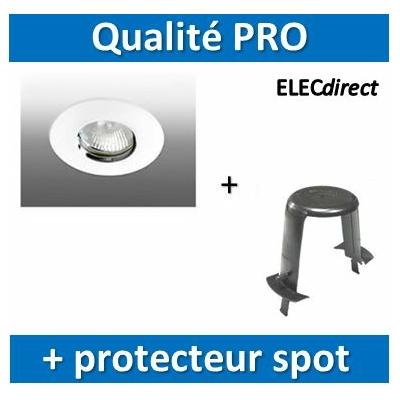 Aric - Spot Halogène - Salle d'eau 12V + protecteur spot laine de verre SIB - 4095+P110000