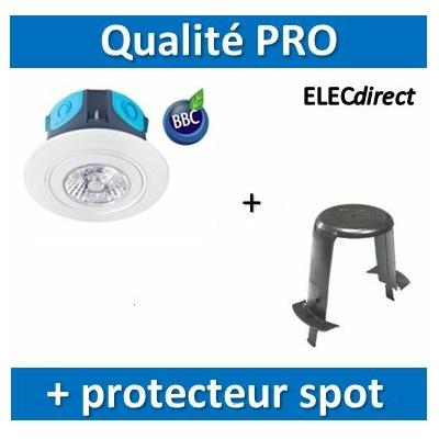 Aric - Spot LED 6W - 390lm - 3000K - IP65 BBC + protecteur de spot SIB - 50260+P110000