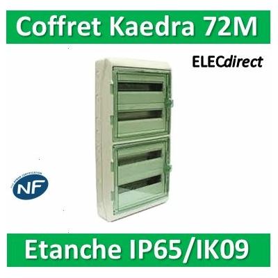 Schneider Kaedra - coffret pour appareillage modulaire - 448 x 842 mm - 72 modules - 13968
