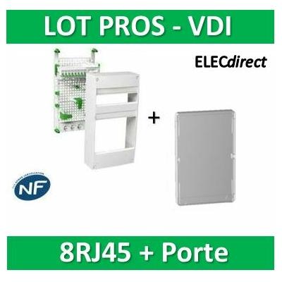 Schneider - Coffret communication avec emplacement BOX Grade 2 et 3 + porte - VDIR390036+R9H13427