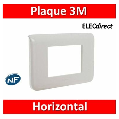 Legrand - Plaque Mosaic - 3 modules - blanc 078803