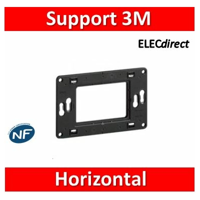 Legrand - Support universel pour 3 modules - 080259