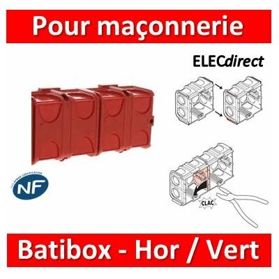 Legrand Batibox - Boîte à sceller 2 postes associable Hor/vert - 080141x2