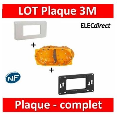 Legrand Mosaic - LOT - Plaque 3 modules - horizontal - 078803+080259+080042