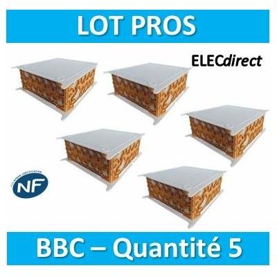 SIB - LOT PROS - 5 Boîtes pavillonnaires BBC 200x200x85 - P32525x5