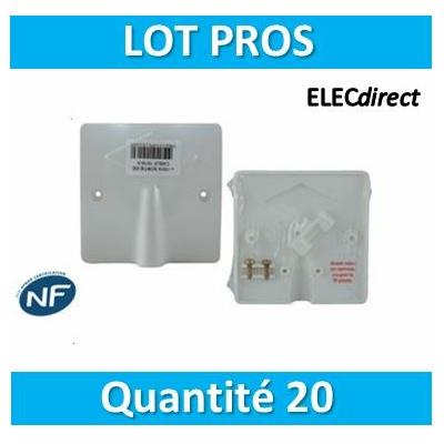 SIB - LOT PROS - Sortie de câble 16/20A - à vis dim. 80x80 - P11016x20