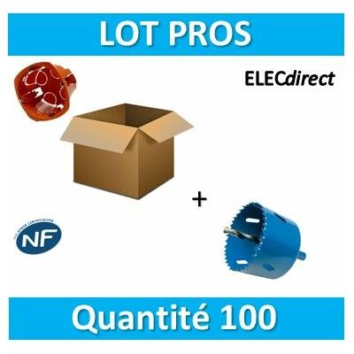 SIB - LOT PROS - Boîte simple 1 poste Profondeur 40mm + scie cloche D.68 - 16840 x300+P10068