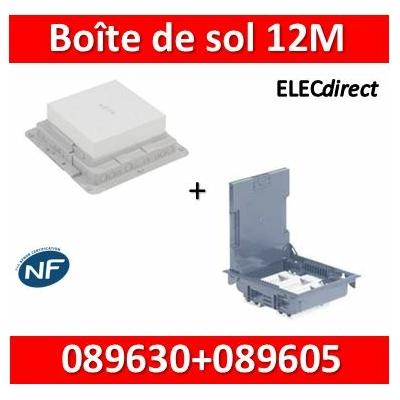 Legrand - Boîte de sol 75-105 - à équiper - 12M + boîte d'encastrement - 089605+089630