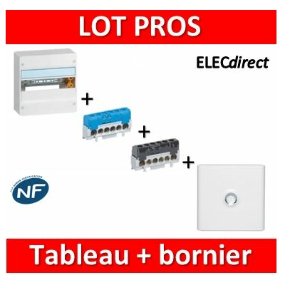 Legrand - LOT PROS - Coffret DRIVIA 13M + bornier Ph+N + porte - 401211+004815+004816+401331