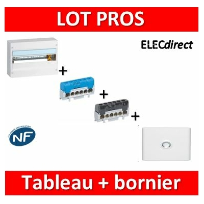 Legrand - LOT PROS - Coffret DRIVIA 18M + bornier PH+N + porte - 401221+004815+004816+401231