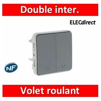 Legrand - Double interrupteur ou va et vient pour volets roulants Plexo composable gris - 069538