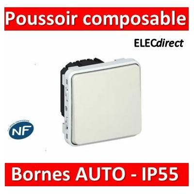 Legrand - Poussoir NO Plexo composable blanc - 10 A - 069630