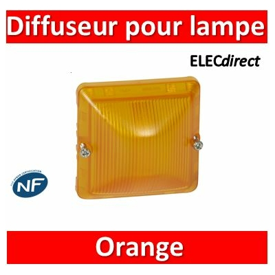 Legrand - Diffuseur pour lampes orange Plexo composable gris/blanc - 069590
