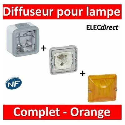 Legrand - Diffuseur orange - gris - pour lampe E10 - 230 V - 069583+069651+069590
