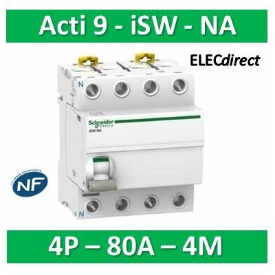 Schneider - INTERRUPTEUR-SECTIONNEUR ACTI9 ISW-NA 4P 80A 415VCA - A9S70780
