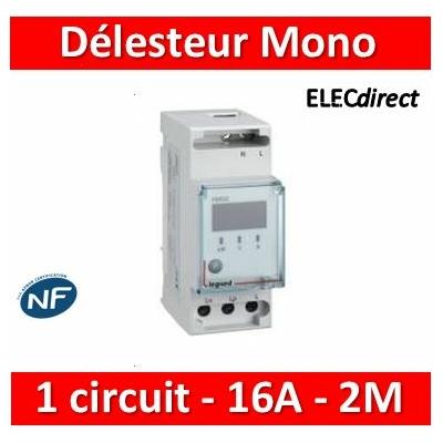 Legrand - Délesteur monophasé - 1 circuit délesté 16 A max - 2 modules - 412020