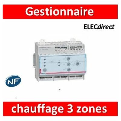Legrand - Gestionnaire pour chauffage électrique fil pilote - 3 zones - 003821