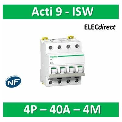 Schneider - Acti9, iSW interrupteur-sectionneur 4P 40A 415VAC - A9S65440