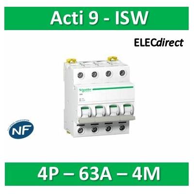 Schneider - Acti9, iSW interrupteur-sectionneur 4P 63A 415VAC - A9S65463
