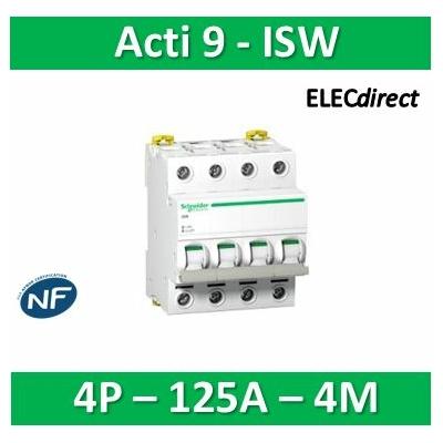 Schneider - Acti9, iSW interrupteur-sectionneur 4P 125A 415VAC - A9S65492