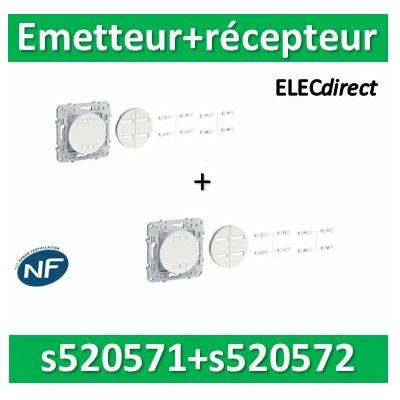 Schneider - Emetteur sans fil radio RF + combiné RF 2300W 10A - S520571+S520572