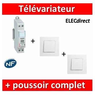 LEGRAND - Variateur modulaire LEDs + 2 poussoirs Niloé - 002671+664705x2+665001x2