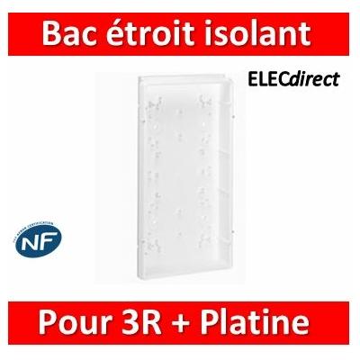 Legrand - Bac étroit isolant - GTL encastré - pour coffret 3 rangées + platine ép. 45 mm - 005105