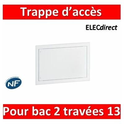 Legrand - Trappe d'accès pour bacs métal 2 travées 13 modules - 401463