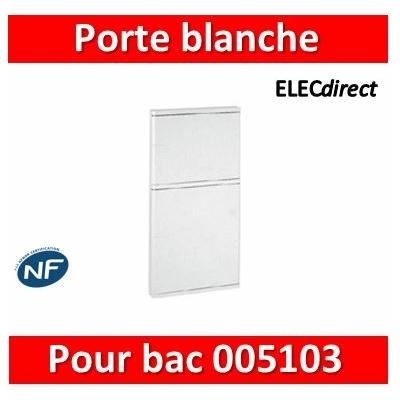 Legrand - Porte blanche isolante IP40/IK07 pour bac réf. 005103 - 005123