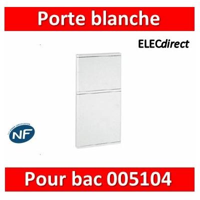 Legrand - Porte blanche isolante IP40/IK07 pour bac réf. 005104 - 005124