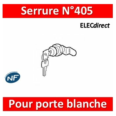Legrand - Serrure N°405 pour blanche isolante - 005599