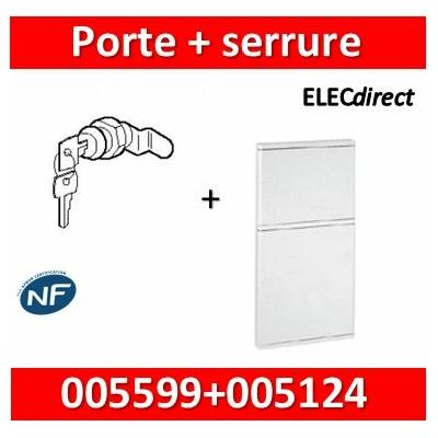 Legrand - Porte blanche isolante IP40/IK07 pour bac réf. 005104 + serrure - 005124+005599