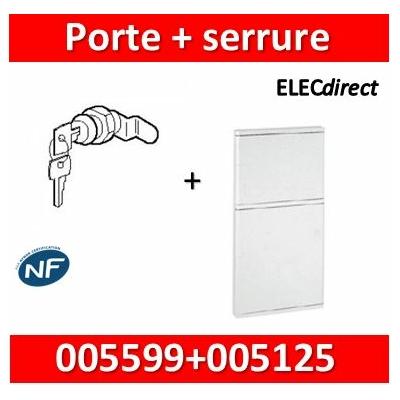 Legrand - Porte blanche isolante IP40/IK07 pour bac réf. 005105 + serrure - 005125+005599