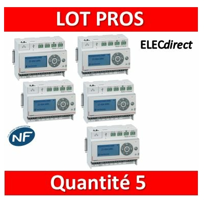 Legrand - LOT PROS - Ecocompteur - 110-230 V~ - 6 modules - 412000x5