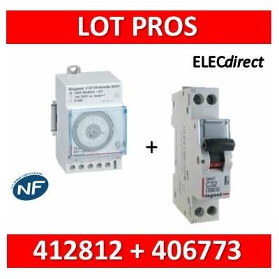 Legrand - Interrupteur horaire journalier analogique + disjoncteur 10A DNX3 - 412812+406773