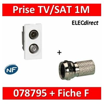 Legrand - Mosaic TV-SAT 1 Module - 078795+fiche F