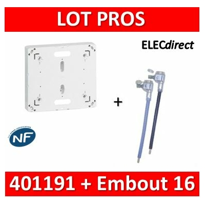 Legrand - Platine - DRIVIA 13M et 18M + Embout 16mm2 Ph+N  60A - 401191+Embout Ph+N