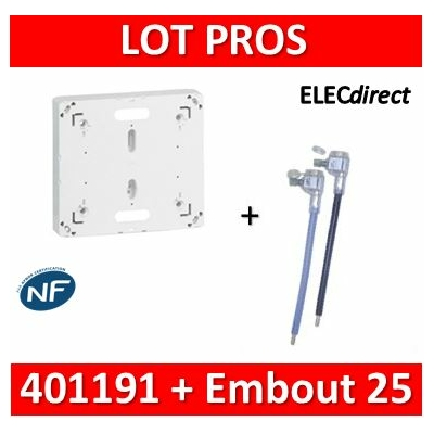 Legrand - Platine - DRIVIA 13M et 18M + Embout 25mm2 Ph+N  90A - 401191+Embout Ph+N