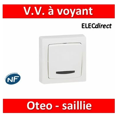 Legrand Oteo - Va-et-Vient à voyant 10A - 230V - 086017