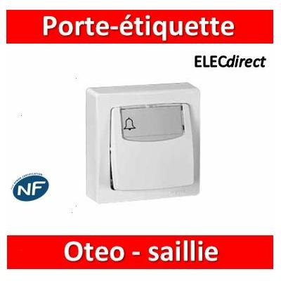 Legrand Oteo - Poussoir porte-étiquette 6A - 230V - 086009