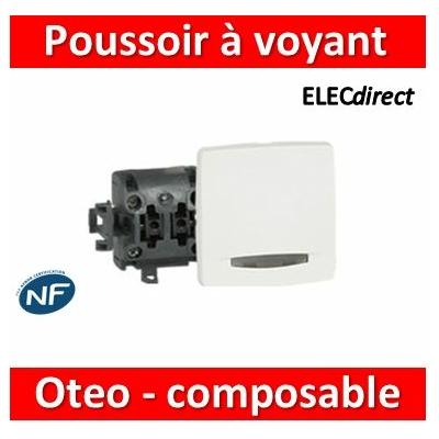 Legrand Oteo - Poussoir à voyant 6A - 230V - 086105