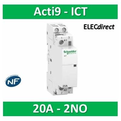 Schneider - Acti9, iCT contacteur 20A 2NO 230...240VCA 50Hz - A9C22722