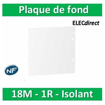 SCHNEIDER - Plaque de fond isolant pour coffret RESI9 18M - 1R - R9H18382