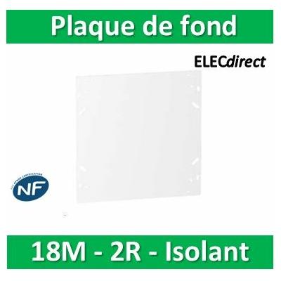 SCHNEIDER - Plaque de fond isolant pour coffret RESI9 18M - 2R - R9H18383