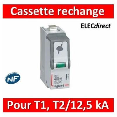 Legrand - Cassette de remplacement pour parafoudres typeT1 + typeT2 Iimp 12,5kA - 412303