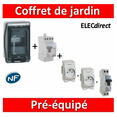 Legrand - LOT PROS - Coffret de jardin IP65 - 004280x2 + 406774 + 411611 + 001908