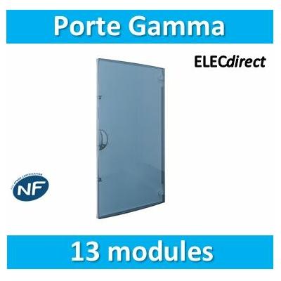 Hager - Porte transparente Gamma 13 pour GD113A - GP113T