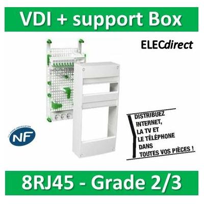Schneider - Coffret communication avec emplacement BOX Grade 2 et 3 - VDIR390036